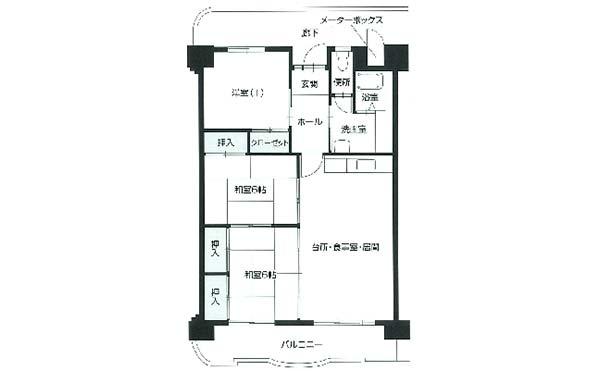 間取り図(2LDK) シティファミリー小坂A棟