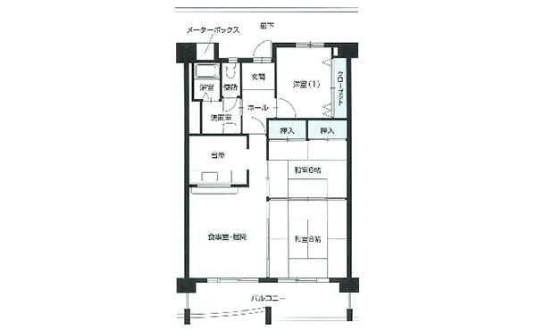 間取り図(3LDK) シティファミリー霞ヶ丘A棟