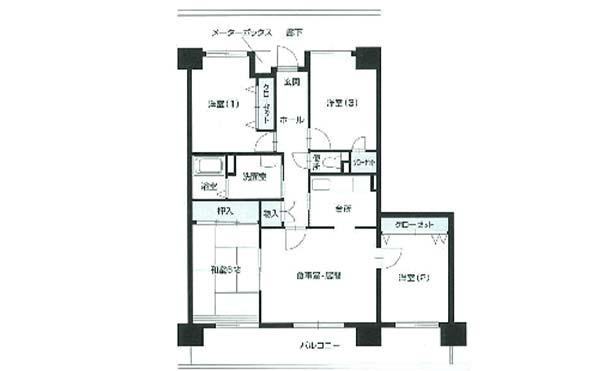 間取り図(4LDK) シティファミリー上社